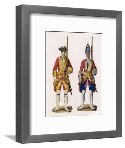 Two British Infantrymen--Framed Art Print
