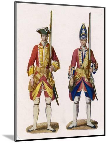 Two British Infantrymen--Mounted Giclee Print