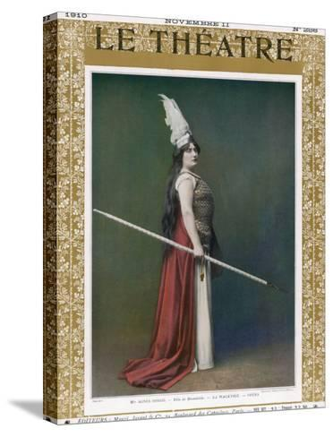 Die Walkure, Agnes Borgo as Brunnhilde at the Paris Opera--Stretched Canvas Print
