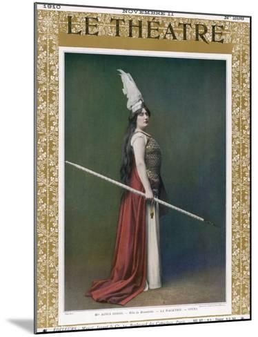 Die Walkure, Agnes Borgo as Brunnhilde at the Paris Opera--Mounted Giclee Print