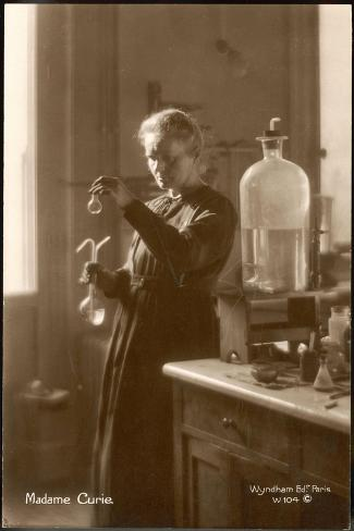 Marie Curie Physical Chemist in Her Laboratory--Stretched Canvas Print