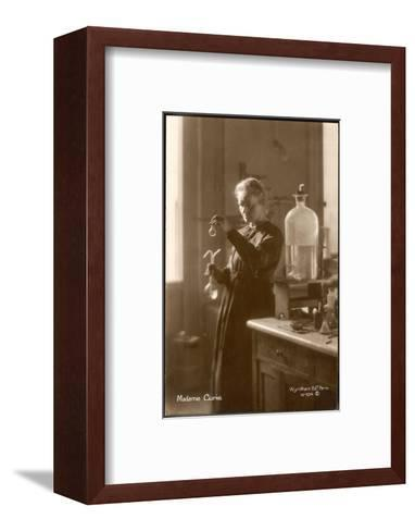 Marie Curie Physical Chemist in Her Laboratory--Framed Art Print