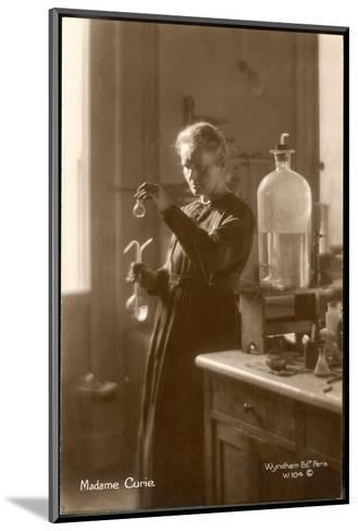Marie Curie Physical Chemist in Her Laboratory--Mounted Giclee Print