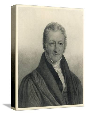 Thomas Robert Malthus Philosopher Known for Study of Population--Stretched Canvas Print