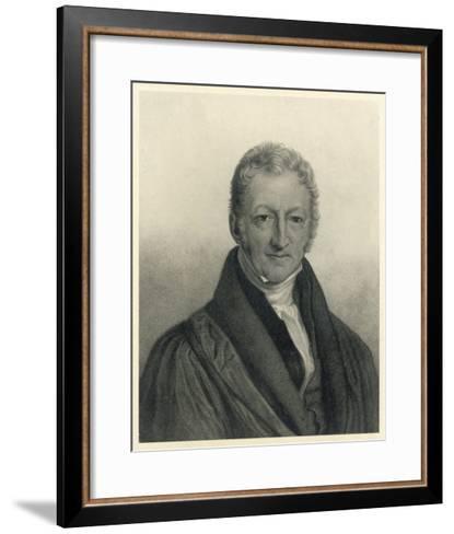 Thomas Robert Malthus Philosopher Known for Study of Population--Framed Art Print