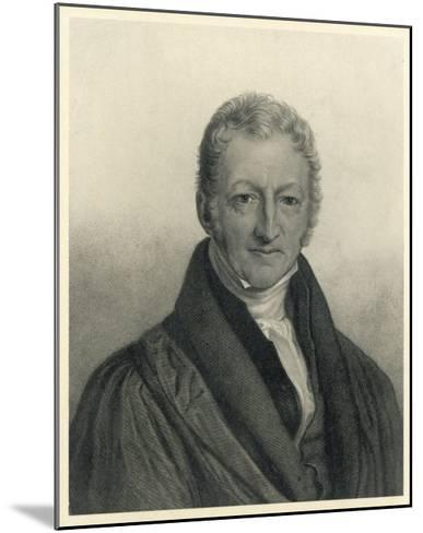 Thomas Robert Malthus Philosopher Known for Study of Population--Mounted Giclee Print