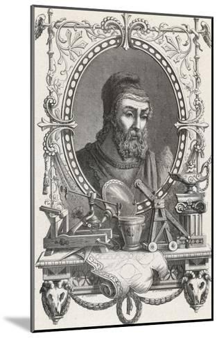 Archimedes Greek Mathematician and Inventor--Mounted Giclee Print