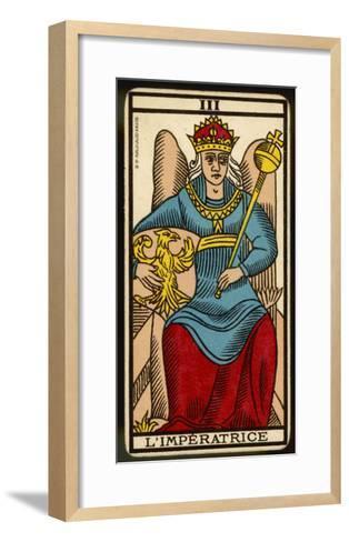 Tarot: 3 L'Imperatrice, The Empress--Framed Art Print