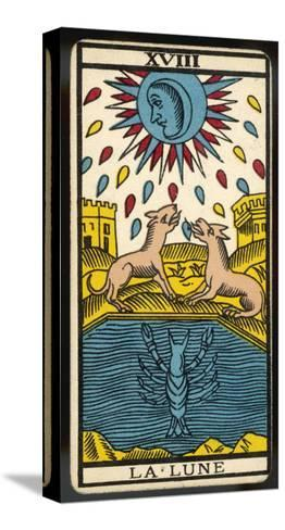 Tarot: 18 La Lune, The Moon--Stretched Canvas Print