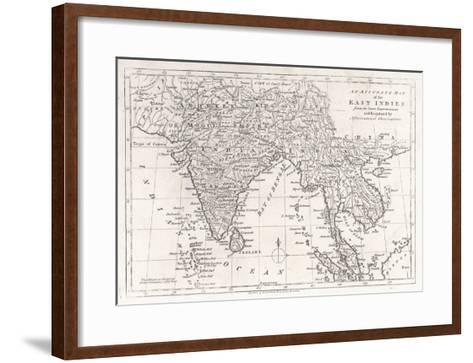 India and Its Neighbours: Note That Burma is Named India Beyond the Ganges--Framed Art Print