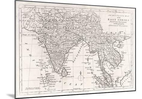 India and Its Neighbours: Note That Burma is Named India Beyond the Ganges--Mounted Giclee Print
