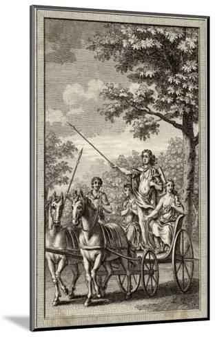 Boadicea (Aka Boudicca) Queen of the Iceni in Her Chariot--Mounted Giclee Print