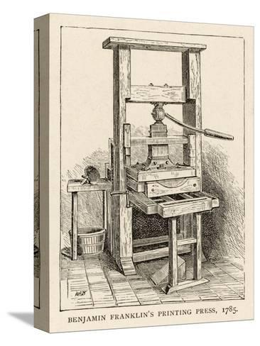 Benjamin Franklin's Printing Press--Stretched Canvas Print