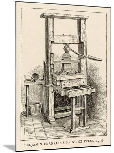 Benjamin Franklin's Printing Press--Mounted Giclee Print