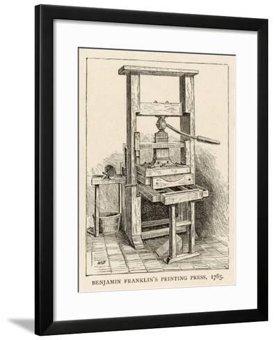 Benjamin Franklin's Printing Press--Framed Art Print
