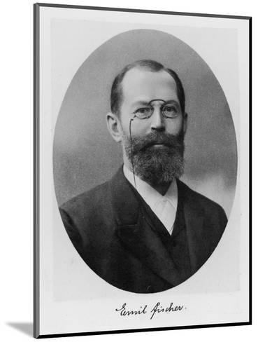 Emil Fischer, German Chemist--Mounted Giclee Print