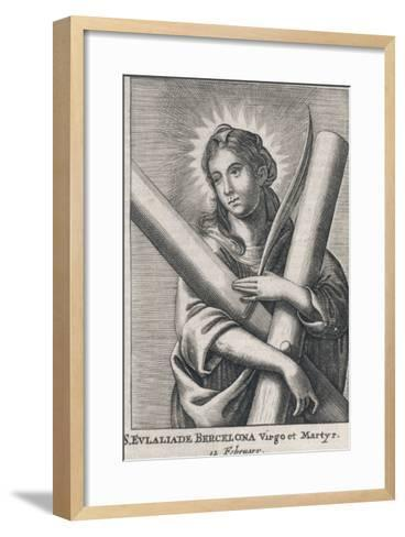 Eulalia (Saint) of Barcelona Spanish Martyr (Under Diocletian), Patron Saint of Sailors--Framed Art Print