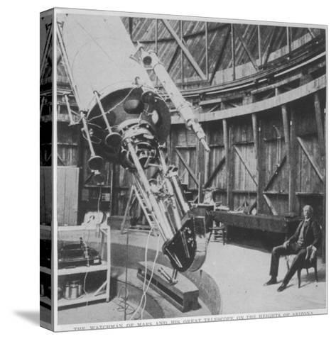 Professor Percival Lowell in the Observatory He Built at Flagstaff Arizona--Stretched Canvas Print