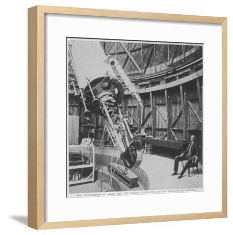 Professor Percival Lowell in the Observatory He Built at Flagstaff Arizona--Framed Art Print