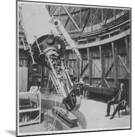Professor Percival Lowell in the Observatory He Built at Flagstaff Arizona--Mounted Giclee Print