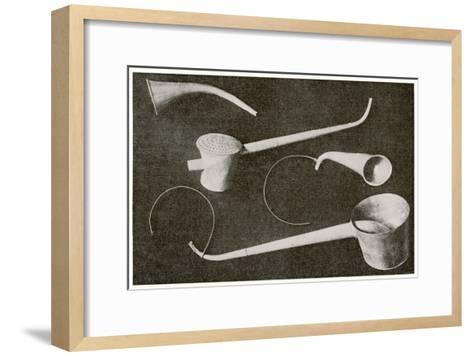 Selection of Beethoven's Hearing Aids--Framed Art Print