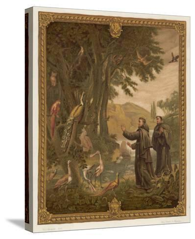 Saint Francis of Assisi, Preaching to the Birds--Stretched Canvas Print