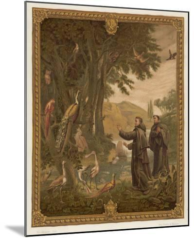 Saint Francis of Assisi, Preaching to the Birds--Mounted Giclee Print