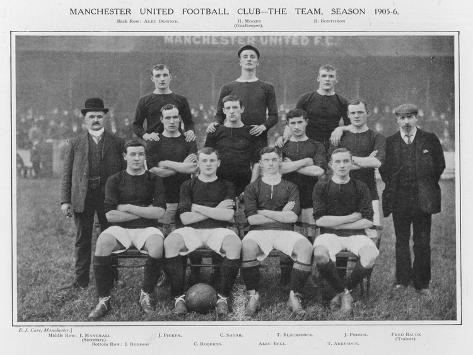 Manchester United Fc the Modern Day All Conquering Side Looking Not So Invincible in 1905--Stretched Canvas Print