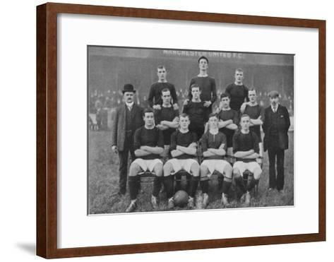 Manchester United Fc the Modern Day All Conquering Side Looking Not So Invincible in 1905--Framed Art Print