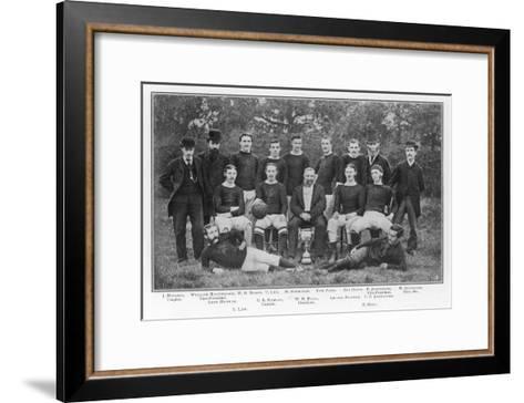 Aston Villa an Early Team Picture--Framed Art Print