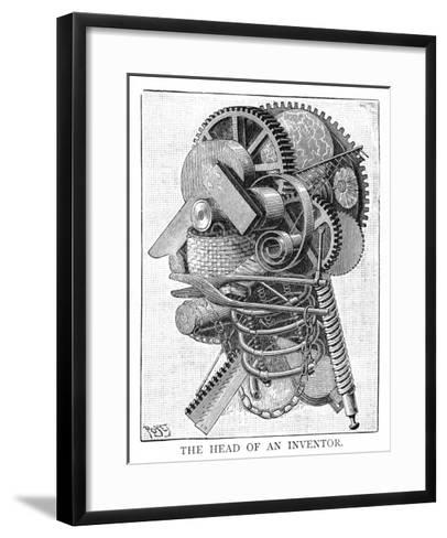 The Inventor--Framed Art Print