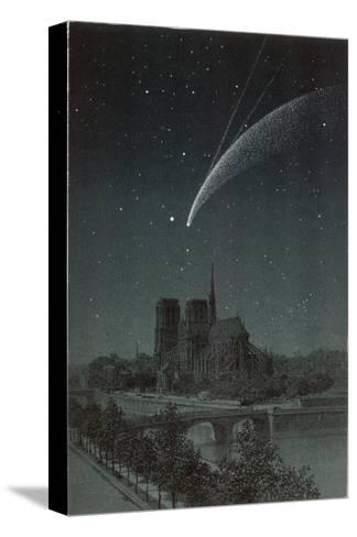 Donati's Comet Observed Over Paris--Stretched Canvas Print