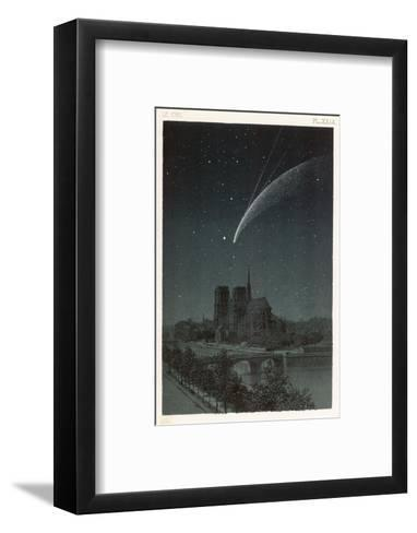 Donati's Comet Observed Over Paris--Framed Art Print