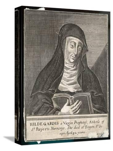 Saint Hildegard Von Bingen German Religious Founder and Abbess of Convent of Rupertsberg--Stretched Canvas Print