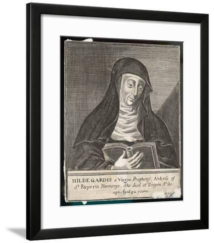 Saint Hildegard Von Bingen German Religious Founder and Abbess of Convent of Rupertsberg--Framed Art Print