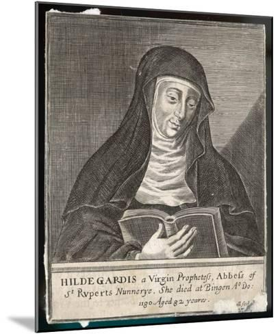 Saint Hildegard Von Bingen German Religious Founder and Abbess of Convent of Rupertsberg--Mounted Giclee Print
