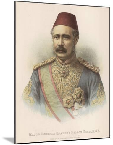 General Charles Gordon British Military Governor General of the Sudan--Mounted Giclee Print