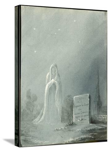 The Ghost of Louise Dunois Who Died Aged 18 Haunts the Cemetery Where She is Buried--Stretched Canvas Print