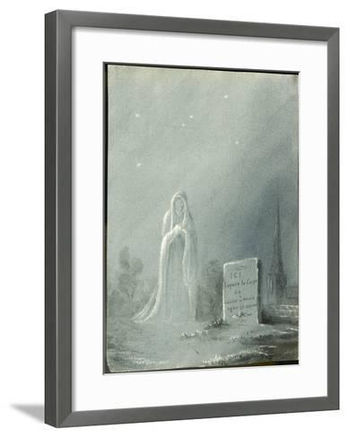 The Ghost of Louise Dunois Who Died Aged 18 Haunts the Cemetery Where She is Buried--Framed Art Print