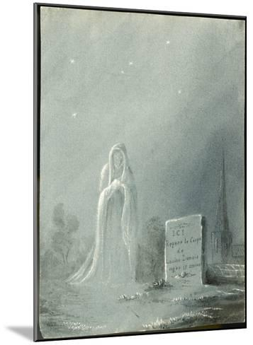 The Ghost of Louise Dunois Who Died Aged 18 Haunts the Cemetery Where She is Buried--Mounted Giclee Print