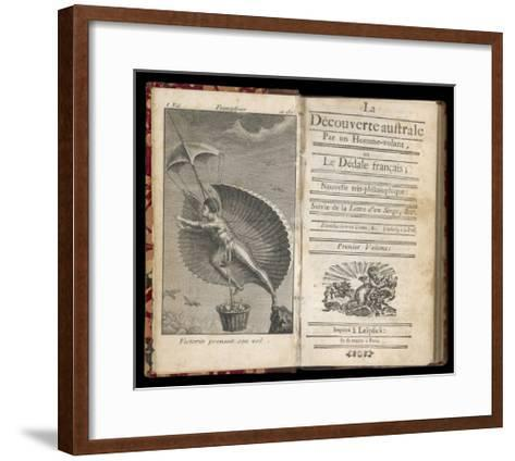 Discoveries in the Southern Hemisphere by a Flying-Man by Nicolas Restif de la Bretonne--Framed Art Print