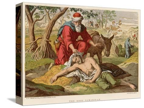 The Parable of the Good Samaritan Who Unlike Others Didn't Pass by on the Other Side--Stretched Canvas Print