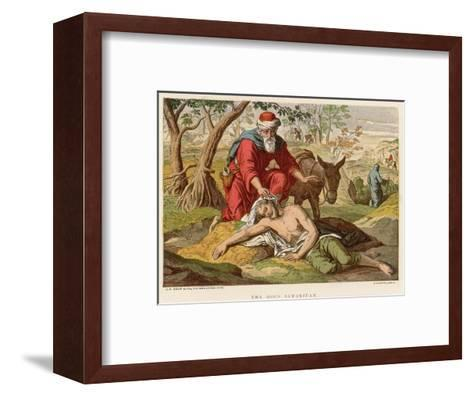 The Parable of the Good Samaritan Who Unlike Others Didn't Pass by on the Other Side--Framed Art Print