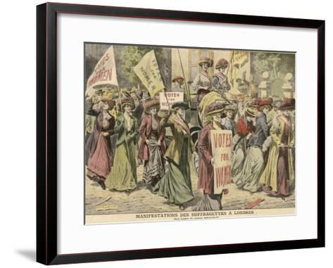 Suffragettes Celebrate the Release of Edith New and Mary Leigh from Holloway--Framed Art Print