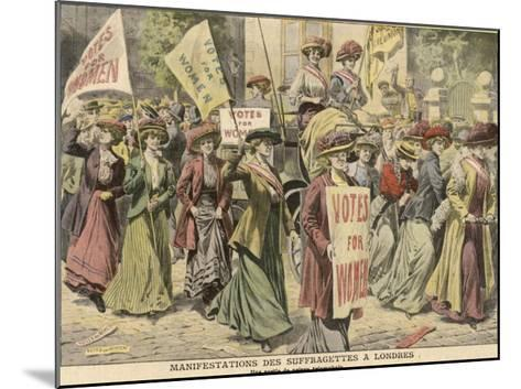 Suffragettes Celebrate the Release of Edith New and Mary Leigh from Holloway--Mounted Giclee Print