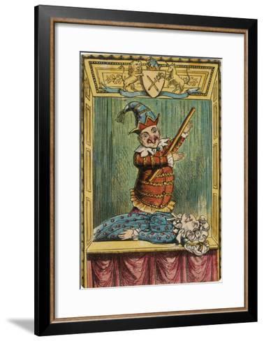 Mr. Punch Beats Judy--Framed Art Print
