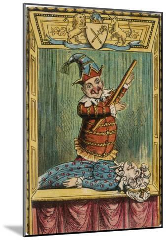 Mr. Punch Beats Judy--Mounted Giclee Print