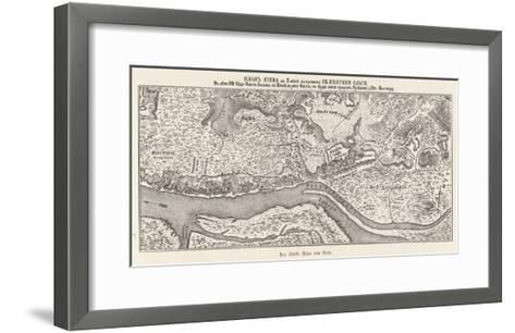 Kiev: The Oldest Known Map--Framed Art Print