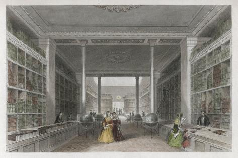 Grand Victorian Bookshop, W and T Fordyce's Publishing Establishment Newcastle Upon Tyne--Stretched Canvas Print