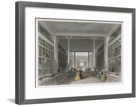Grand Victorian Bookshop, W and T Fordyce's Publishing Establishment Newcastle Upon Tyne--Framed Art Print